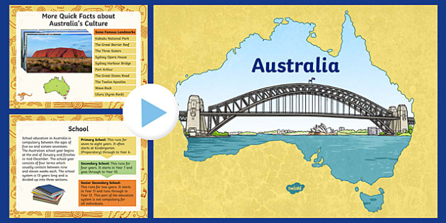 Australia Information PowerPoint - australia, australia powerpoint, information about australia, australia information powerpoint, places, around the world