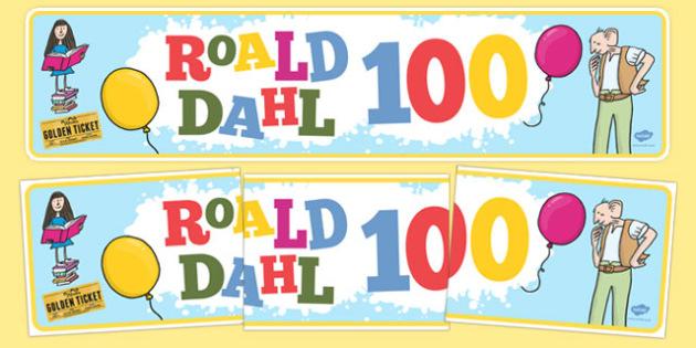Roald Dahl 100 Display Banner