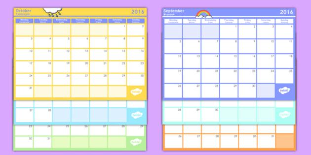 Academic Year Monthly Calendar Planning Template 2016-2017 Polish Translation - polish, Academic Year Calendar September 2015 to August 2016, calander, calander, calandar, calender2016, claendars, calemdar, calander, school, holidays, term, half-term