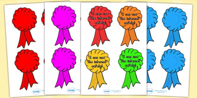 Editable Award Rosettes - award, reward, rosettes, certificates