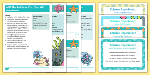 EYFS Science Experiments Resource Pack to Support Teaching on The Rainbow Fish