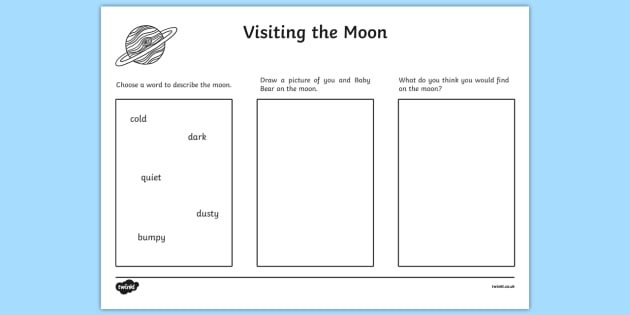 Visiting The Moon Activity Sheet to Support Teaching on Whatever Next!