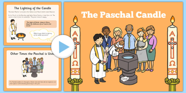 Paschal Candle PowerPoint - Paschal Candle, Easter, procession, Jesus
