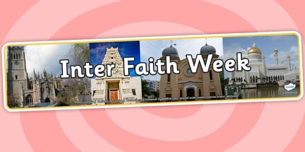 Inter Faith Week Photo Display Banner - inter faith week, photo display banner, photo banner, display banner, banner,  banner for display, display photo