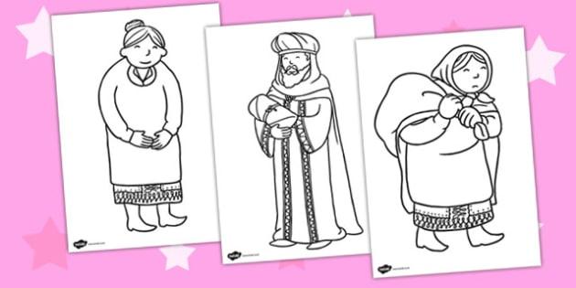 Babushka Colouring Sheets - babushka, colouring sheets, colour