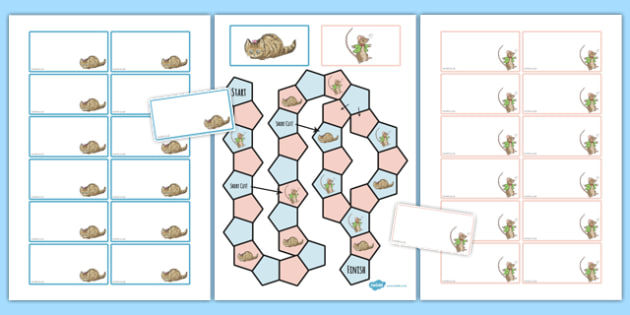 Beatrix Potter - The Story of Miss Moppet Themed Editable Board Game - beatrix potter, miss moppet