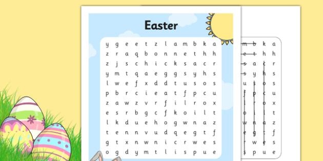 Easter Fair Word Search - easter fair, easter fayre, fair, fayre, easter, word search