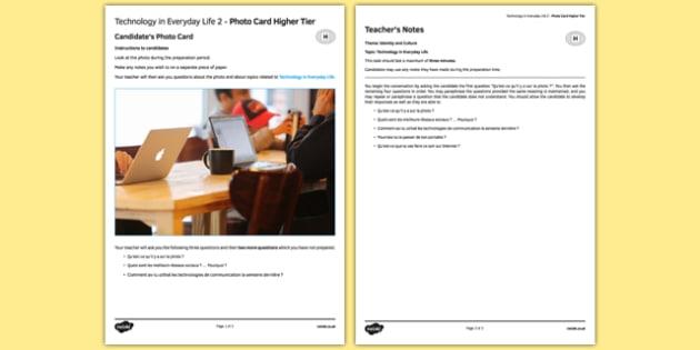 La technologie dans la vie quotidienne 2 Carte photo Higher Tier - french, Technology, technologie, photo, picture, card, higher