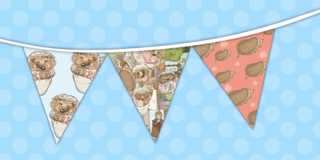 The Tale of Mrs Tiggy Winkle Bunting - mrs tiggy winkle, bunting
