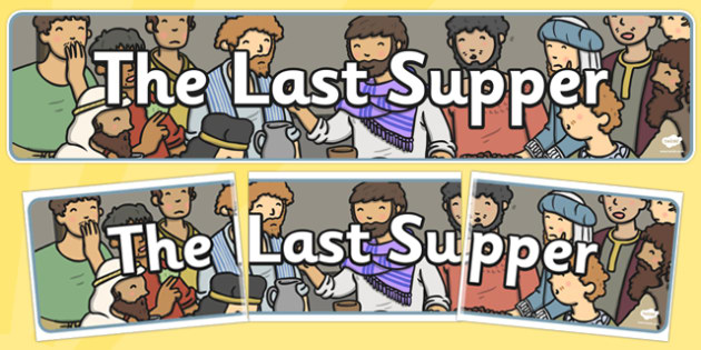 The Last Supper Display Banner - banners, displays, christianity