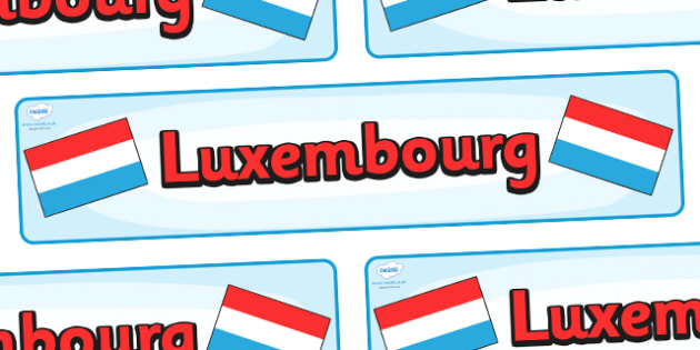 Luxembourg Display Banner - Luxembourg, Olympics, Olympic Games, sports, Olympic, London, 2012, display, banner, sign, poster, activity, Olympic torch, flag, countries, medal, Olympic Rings, mascots, flame, compete, events, tennis, athlete, swimming