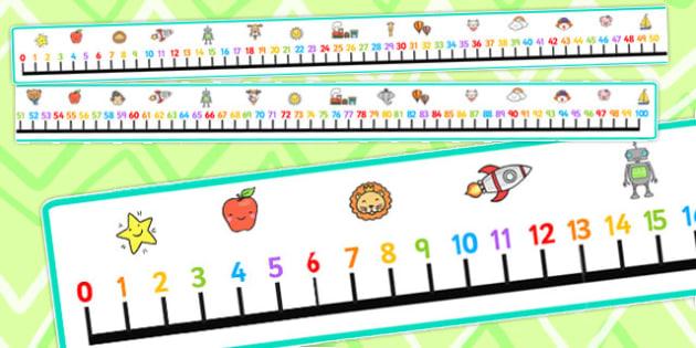 Giant Number Line 7 Metres - number line, 7 metres, metres, line