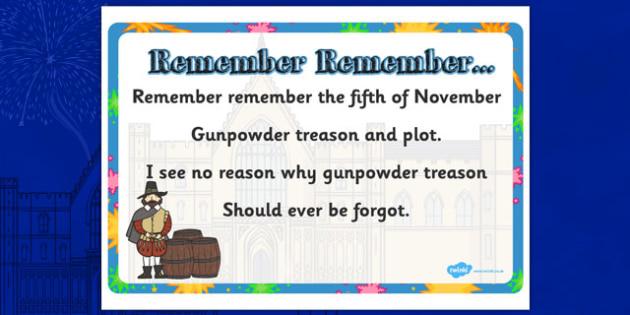 Remember Remember Display Posters - Gunpwoder Plot, Story, Bonfire night, Guy Fawkes, bonfire, Houses of Parliament, plot, treason, fireworks, Catholic, Protestant, James I
