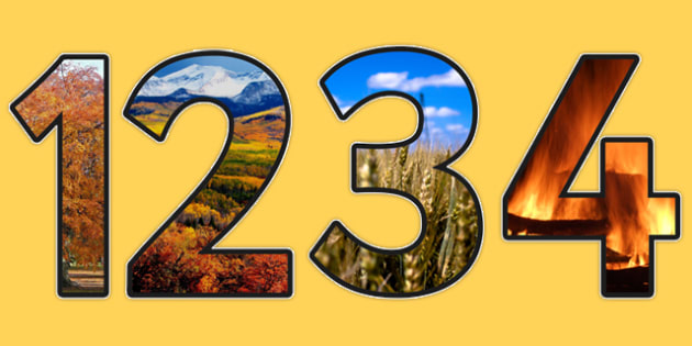 Autumn Themed A4 Photo Display Numbers - autumn, display, numbers