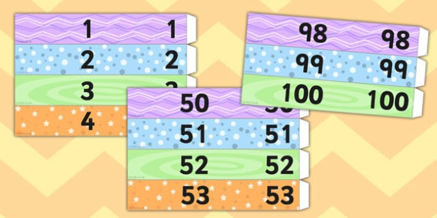 Number Sequencing Paper Chain to 100 - number, sequencing, paper chain, 100