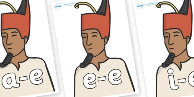 Modifying E Letters on Egyptian Kings - Modifying E, letters, modify, Phase 5, Phase five, alternative spellings for phonemes, DfES letters and Sounds