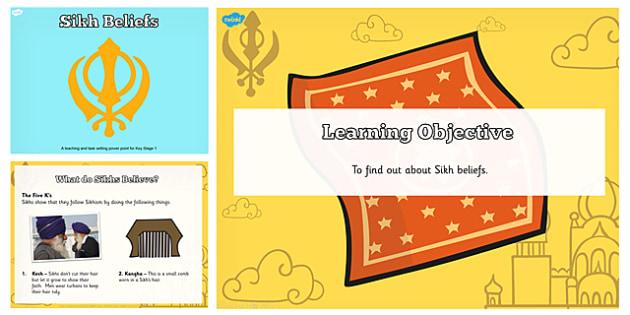 Sikh Beliefs Teaching and Task Setter PowerPoint - religion