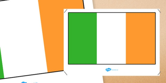 Republic of Ireland Flag Display Poster - republic of ireland flag, republic of ireland, flag, display poster