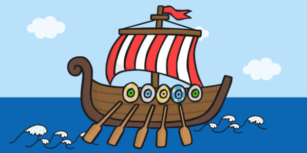 Large Viking Boat Cut Out - viking, boat, cut out, large, display