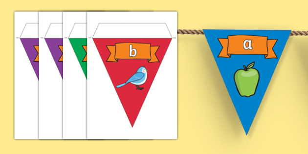 Phase 2 Sounds Display Bunting - phase 2 bunting, letters and sounds bunting, phase 2 letters and sounds bunting, sounds bunting, letters bunting, phonics
