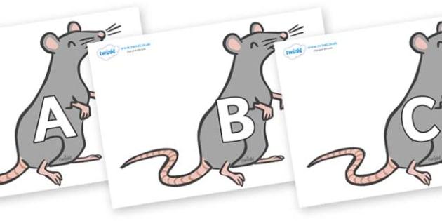 A-Z Alphabet on Rats - A-Z, A4, display, Alphabet frieze, Display letters, Letter posters, A-Z letters, Alphabet flashcards