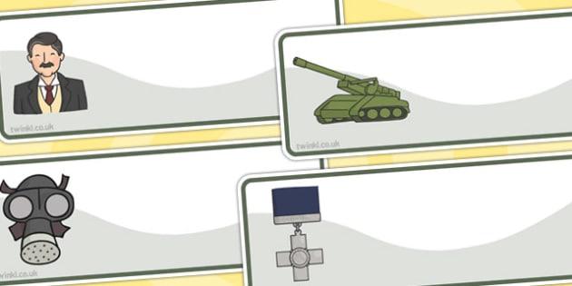 World War Two Editable Drawer Peg Name Labels - World War Two, WW2, history, war, world war, , Resource Labels, Name Labels, Editable Labels, Drawer Labels, Coat Peg Labels, Peg Label, KS1 Labels, Foundation Labels, Foundation Stage Labels, Teaching