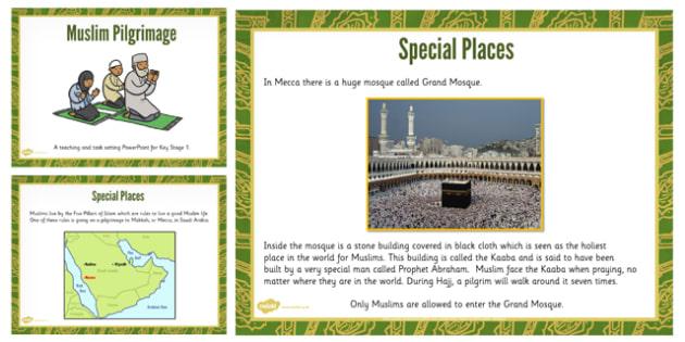 KS1 Places of Muslim Pilgrimage Teaching Task Setting PowerPoint