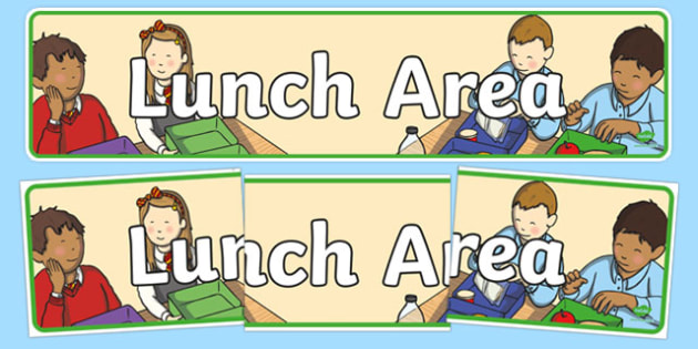 Lunch Area Display Banner