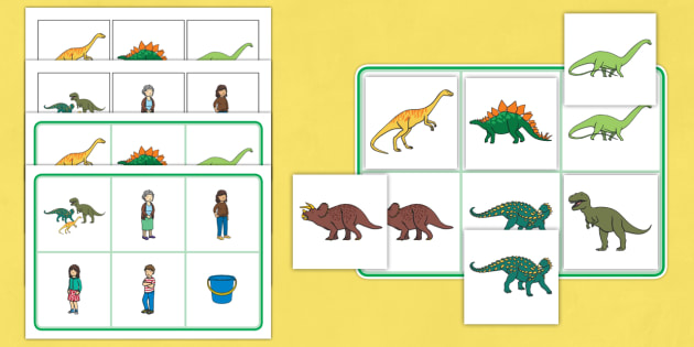 Matching Mat SEN to Support Teaching on Harry and the Bucketful of Dinosaurs - SEN, mat