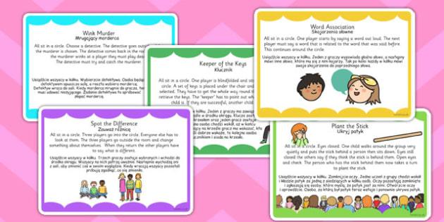Ice Breaker Game Cards Polish Translation - communication, new starters, ks1, ks2, friendship