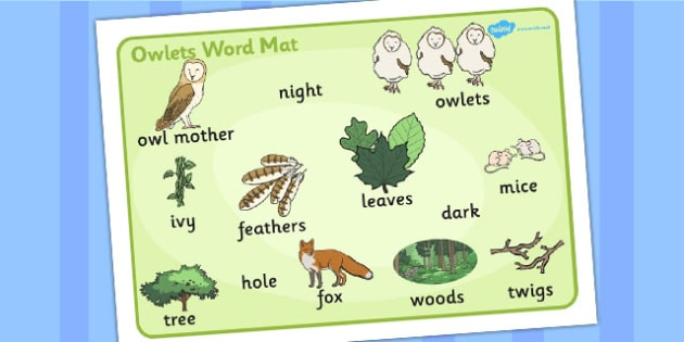 Owl Word Mat (Images) - owl, word mat, word, mat, images, story