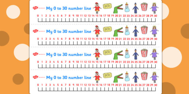 Punch and Judy Number Lines 0 30 - Number, maths, lines, punch