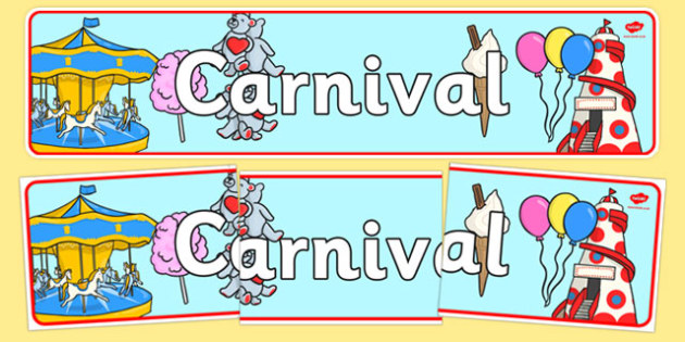 The Carnival Role Play Display Banner - carnival, role play, role play carnival, display banner, carnival display banner, carnival banner