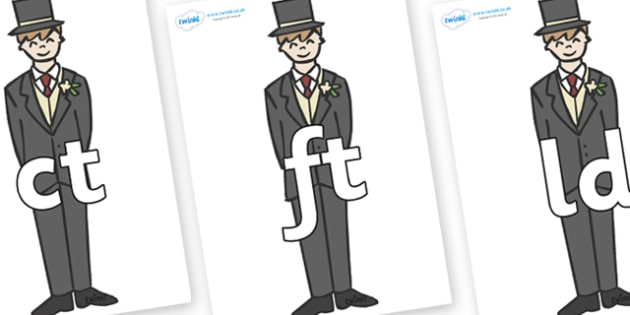 Final Letter Blends on Grooms - Final Letters, final letter, letter blend, letter blends, consonant, consonants, digraph, trigraph, literacy, alphabet, letters, foundation stage literacy