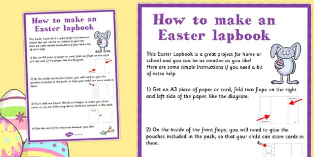 Easter Lapbook Instructions - easter, lapbook, instructions, sheet