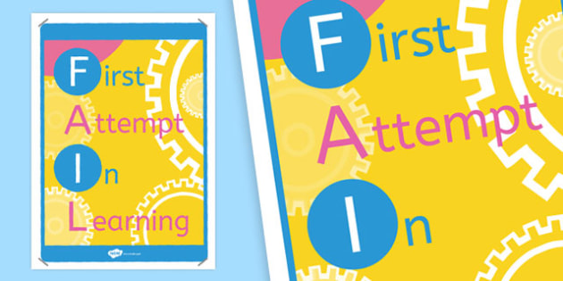 F-A-I-L Poster - Display, PSHE, independent work,KS2, Key Stage 2