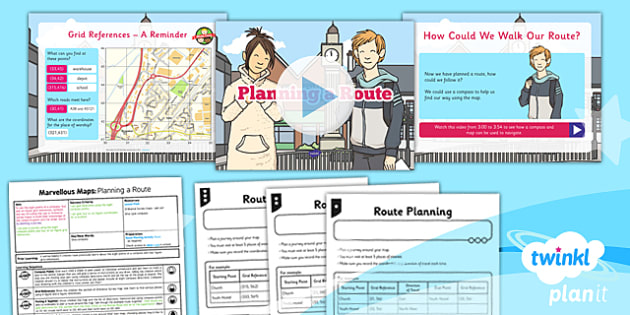 PlanIt - Geography Year 5 - Marvellous Maps Lesson 5: Planning a Route Lesson Pack