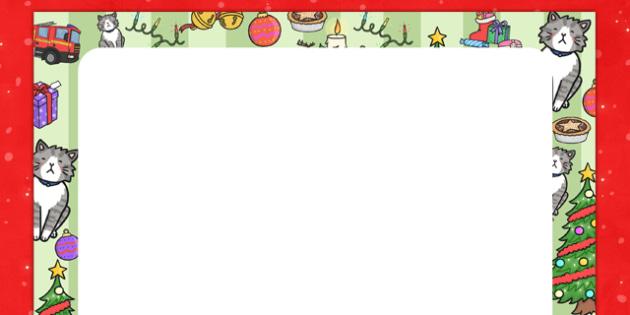 Christmas Cat Themed Editable Display Poster - christmas cat, cat, christmas, themed, display, poster, mog