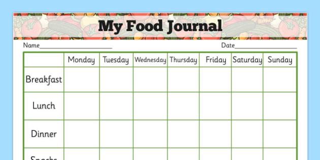 My Healthy Eating Food Journal - health, healthy food, food