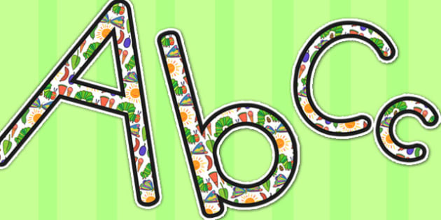 Display Lettering to Support Teaching on The Very Hungry Caterpillar - australia, hungry, caterpillar