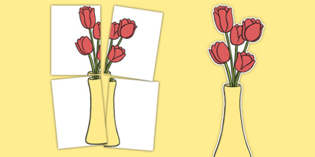 Tulips Display Cut Out - tulips, display, cut outs, spring, flowers, plants and growth, plants, flower