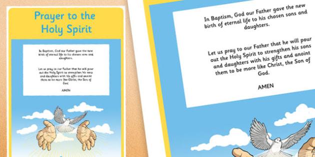 Prayer to the Holy Spirit A4 Display Poster-Irish