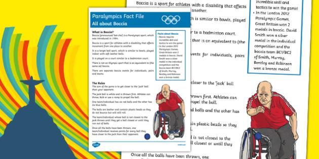 Rio Paralympics 2016: All About Boccia Fact File