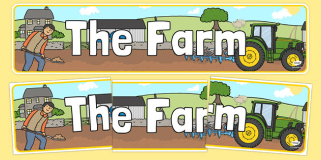 Farm Display Banner - Farm Shop Role Play, banner, farm shop resources, farm, milk, cheese, eggs, till, animals, meat, cheese, living things, butcher, role play, display, poster