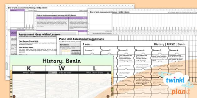 PlanIt - History UKS2 - Benin Unit Assessment Pack - benin, planit, assessment, unit, ks2, history, 2014, planning