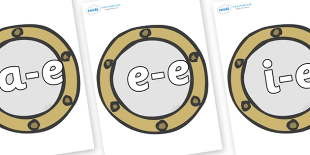 Modifying E Letters on Portholes - Modifying E, letters, modify, Phase 5, Phase five, alternative spellings for phonemes, DfES letters and Sounds
