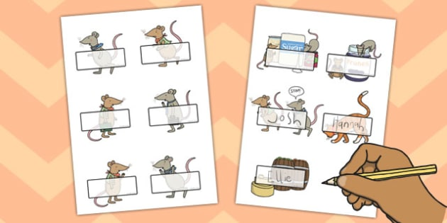 The Town Mouse and the Country Mouse Editable Self Registration