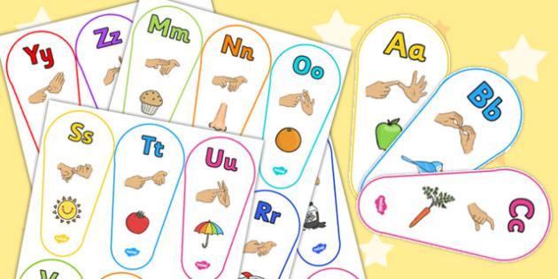 British Sign Language Alphabet Fan - alphabet, fan, sign language
