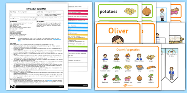 EYFS In the Vegetable Patch Adult Input Plan and Resource Pack