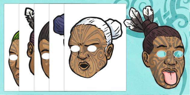 Maori Creation Myth Role Play Masks